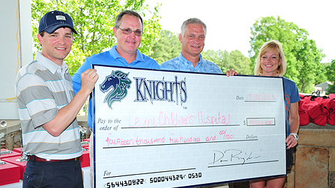 Thanks to some great organizations, the Knights raised $14,500 on Wednesday. (Tony Ulchar)