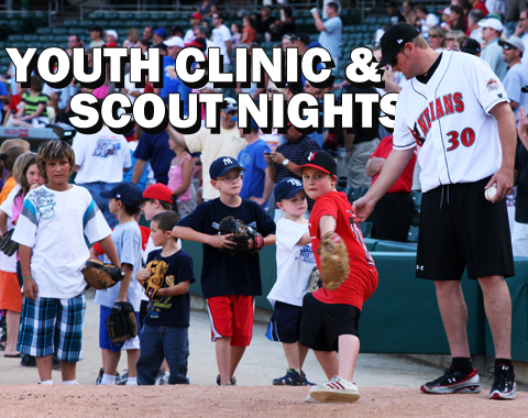 Scout Campouts and the annual Youth Baseball Clinic give kids an exclusive on-field experience.