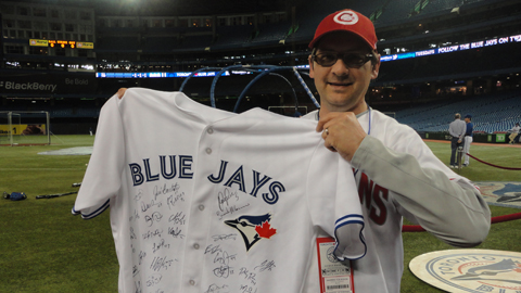The Blue Jays supplied Andrew Von Rosen with a team autographed jersey!