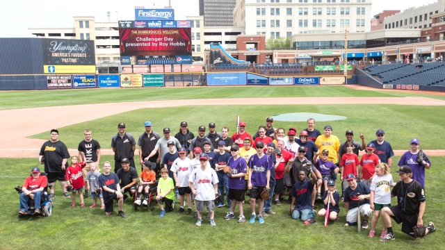 The 2015 Challenger Game competitors had a lot of fun last Saturday at Canal Park showing their skills off for the RubberDucks players! (David Monseur)